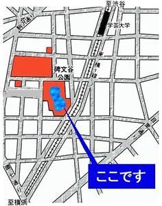 碑文谷公園への案内図